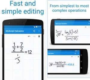 MyScript Calculator-Best Android Apps to Solve Math Problems