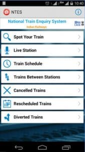 National Train Enquiry System-Best Railway Android Apps