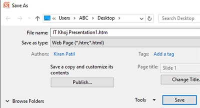 Save as webpage - Extract Images from Word, Excel, and PowerPoint Documents