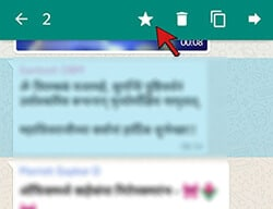 Star a message in whatsapp1- WhatsApp New features