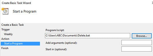Task Scheduler - Automatically delete old files-2 (1)