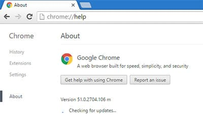 Update your Google Chrome browser-Make Google Chrome faster