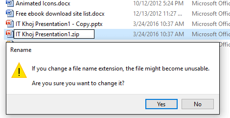 change extension - Extract Images from Word, Excel, and PowerPoint Documents