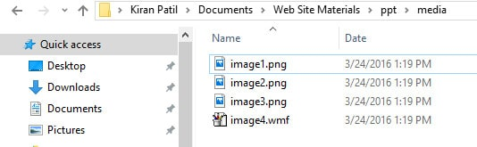 ppt folder - Extract Images from Word, Excel, and PowerPoint Documents