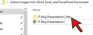 webpage folder1 - Extract Images from Word, Excel, and PowerPoint Documents